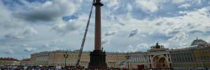 Пьяный водитель пытался скрыться от полиции на Дворцовой площади Петербурга
