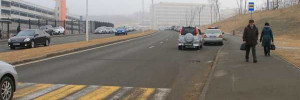 В Волгограде на видео попала «гибель» дорожного блока