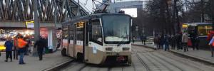 Трамвай сошел с рельсов на Варшавском шоссе Москвы